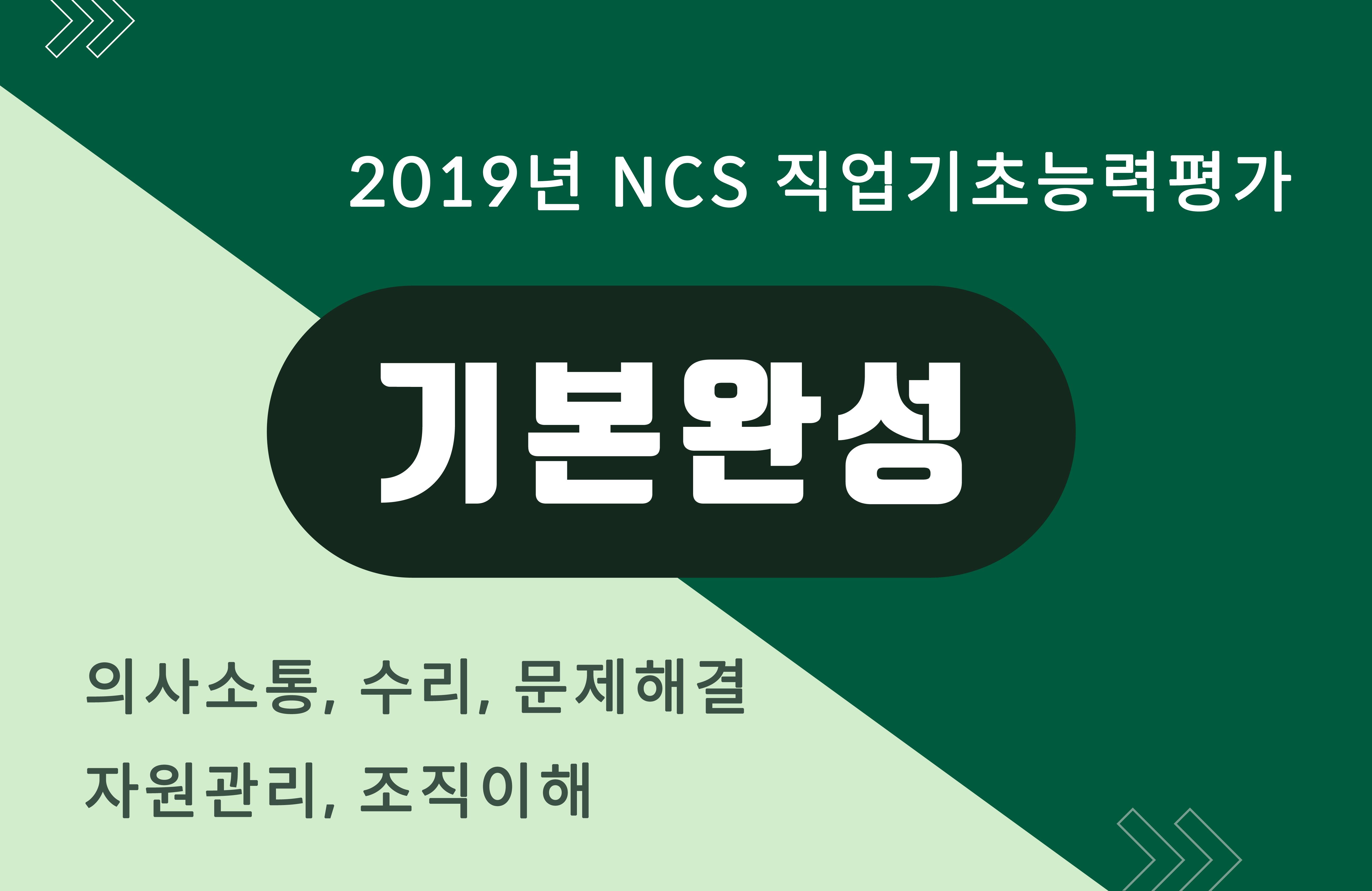 [진짜기출에서 뽑은 256개 유형] 2019 NCS 직업기초능력평가 기본완성 - 의사소통, 수리, 문제해결, 자원관리, 조직이해
